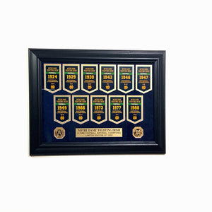 Notre Dame  Framed Championship Coins Display