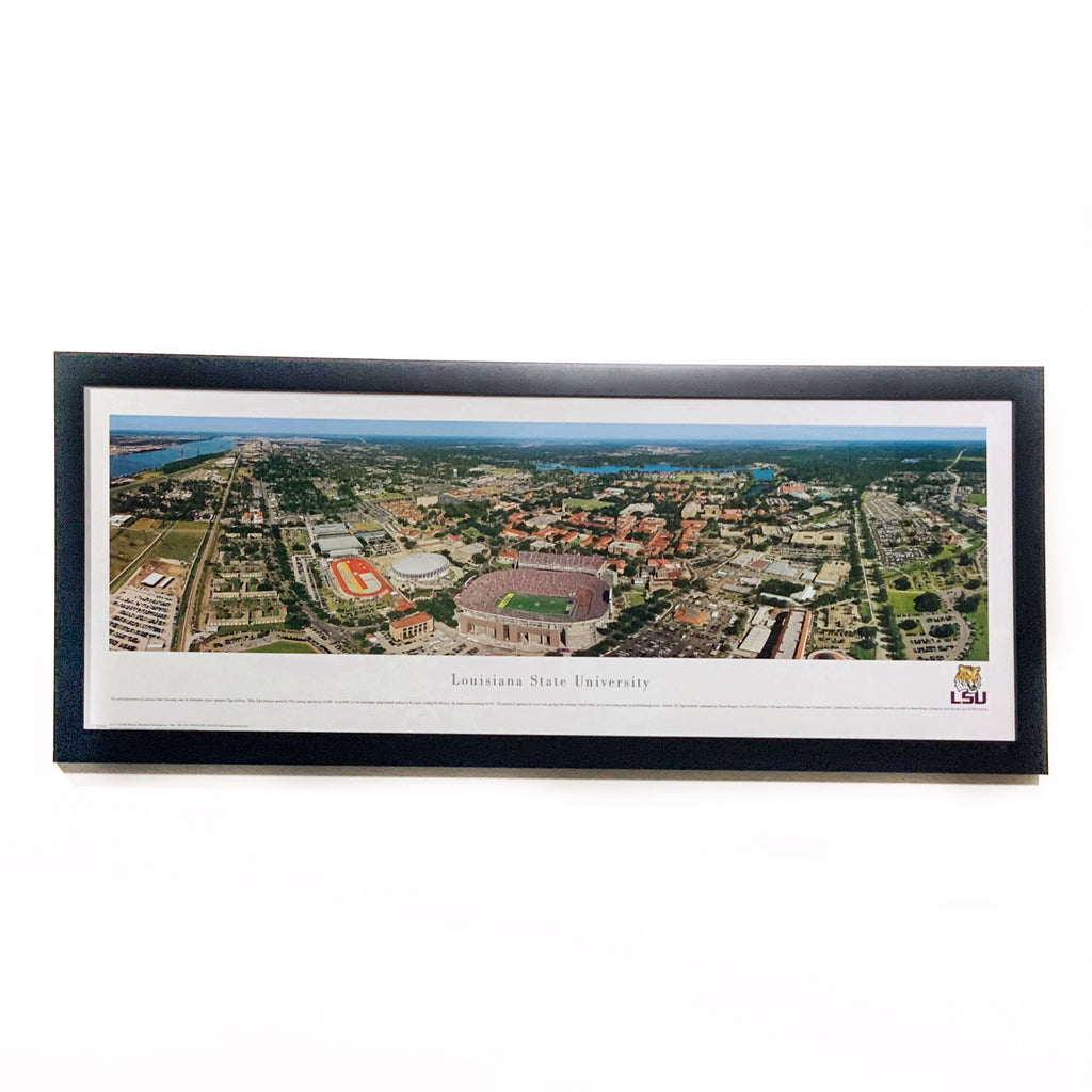 LSU  Premium Framed Panoramic