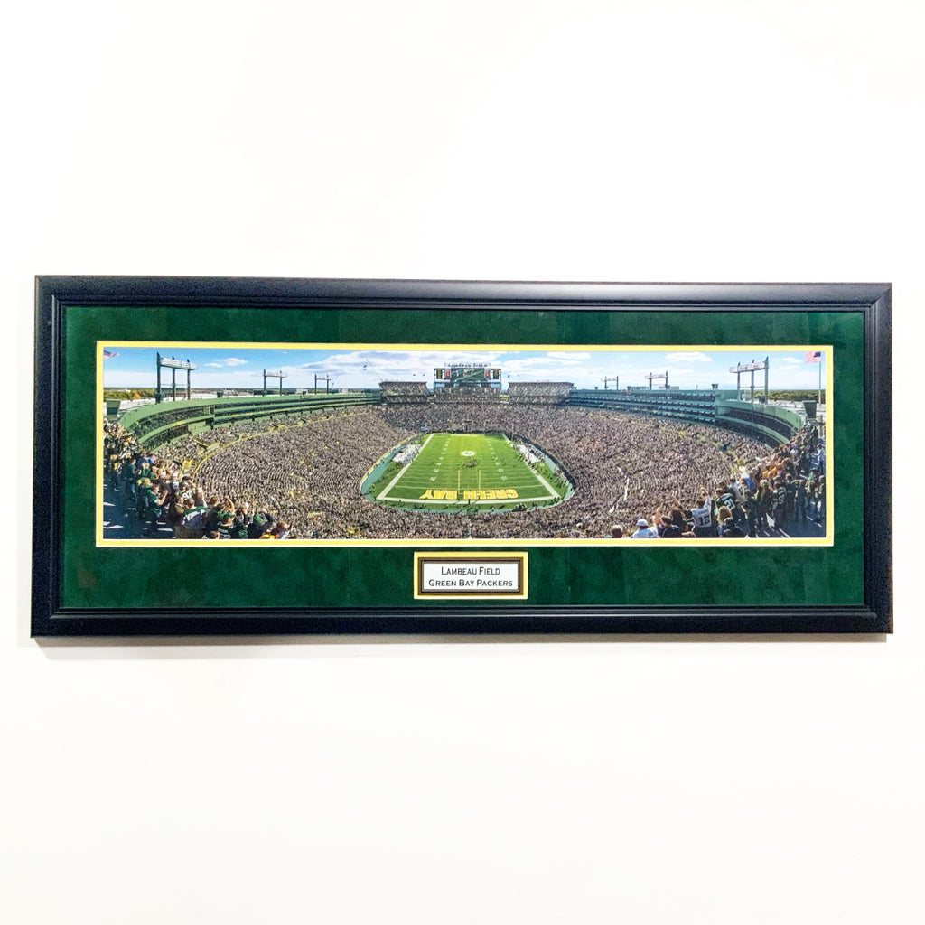 Green Bay Packers Lambeau Field 'Day' Premium Framed Panoramic