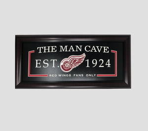 Detroit Red Wings Man Cave Framed Display