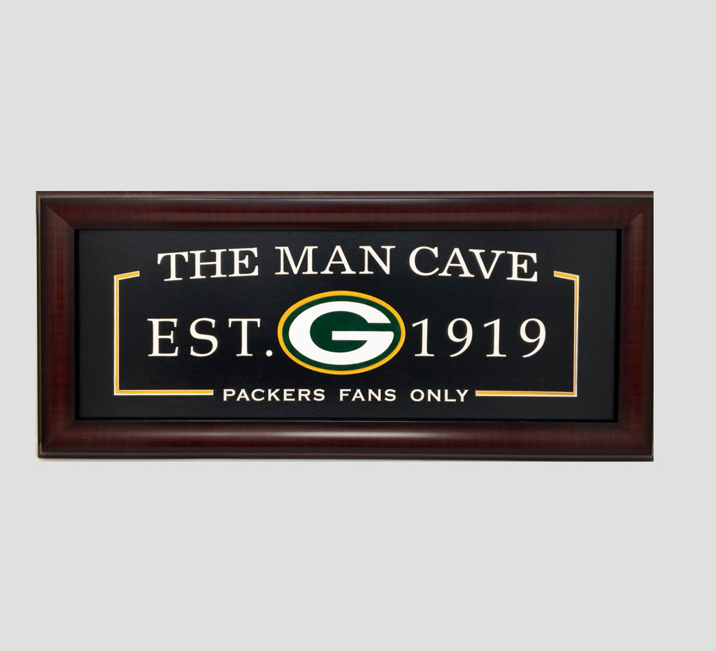 Green Bay Packers Man Cave Framed Display