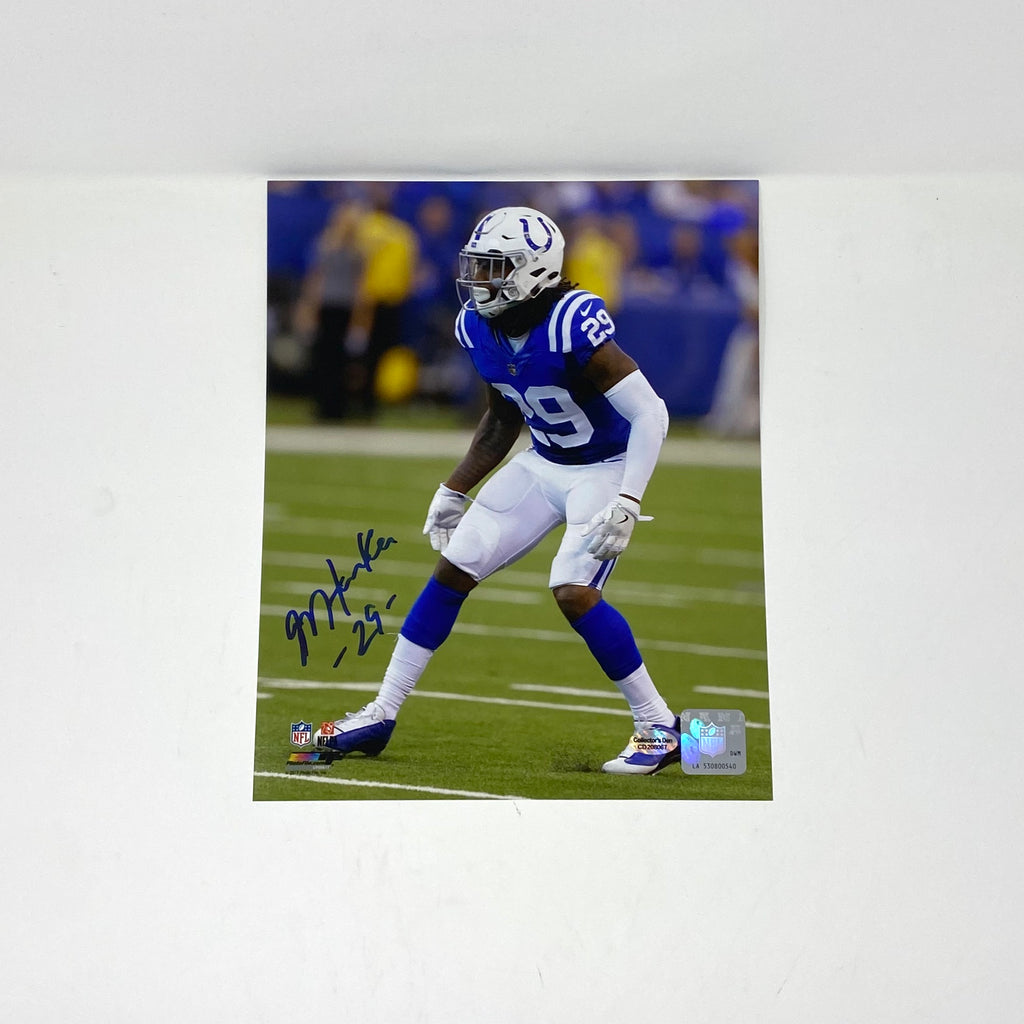 Malik Hooker Loose Autographed 8x10 Indianapolis Colts
