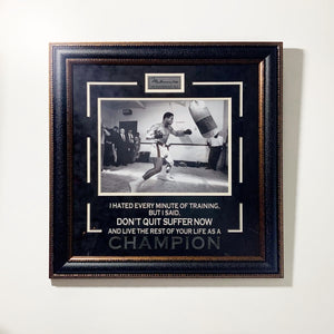 "Muhammad Ali ""Champion"" Framed Quote Display"
