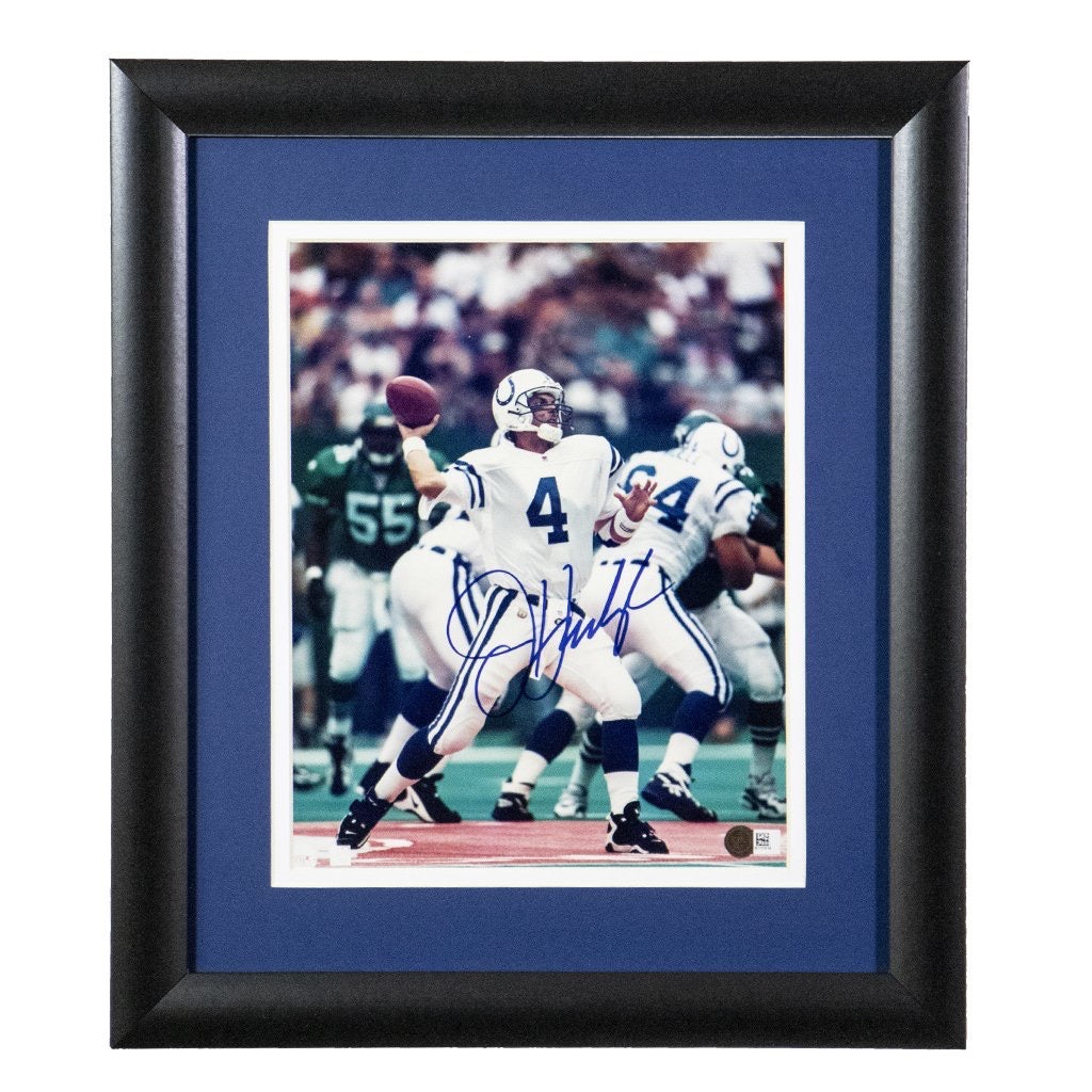 Jim Harbaugh Indianapolis Colts Autographed Framed 8x10