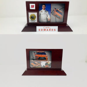 Carl Edwards Fanatics Authentic #19 Desktop Display with Race-Used Lug Nut