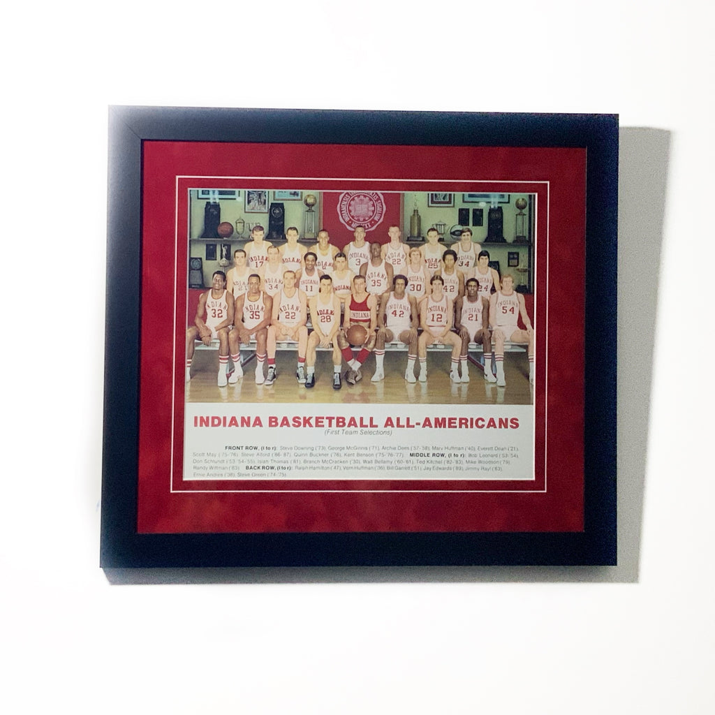 Indiana Basketball All-Americans Framed Display