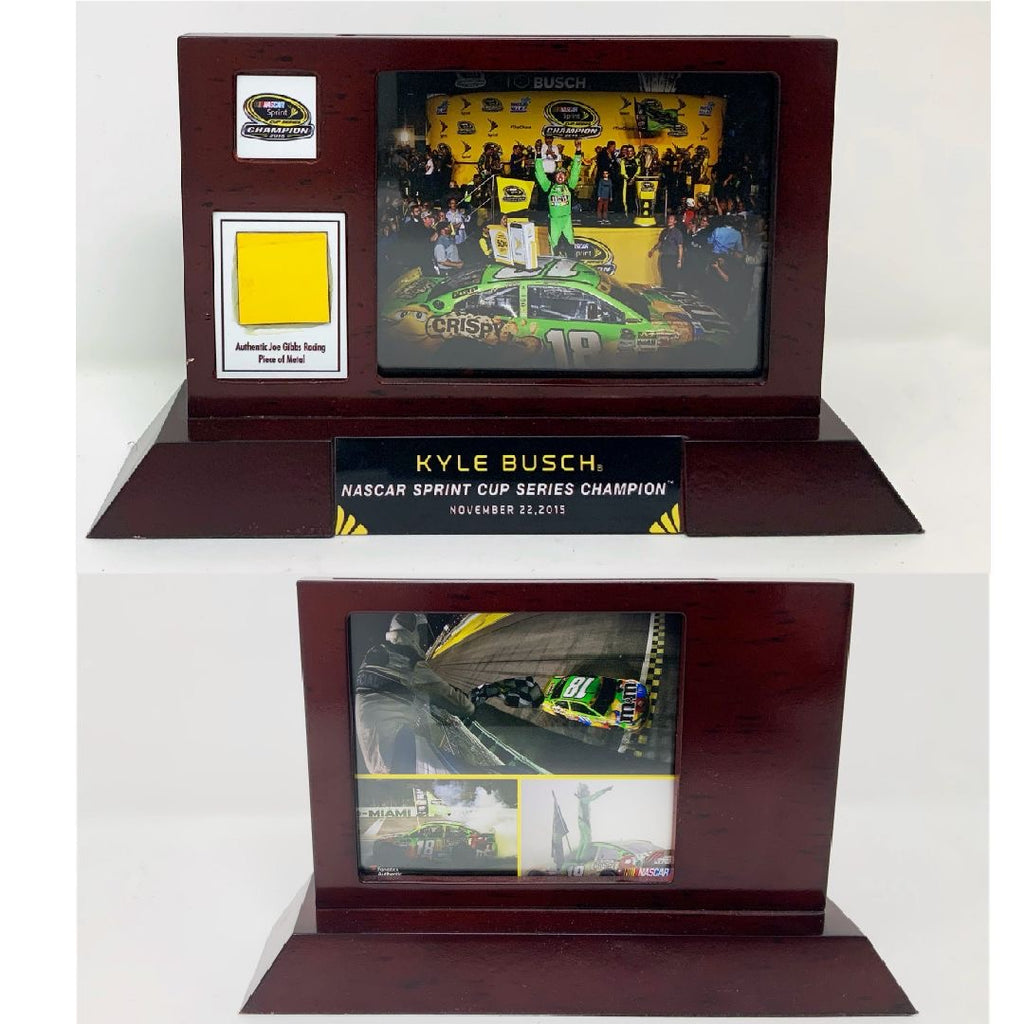 Kyle Busch Fanatics Authentic 2015 Sprint Cup Champion Desktop Display with Race Used Metal