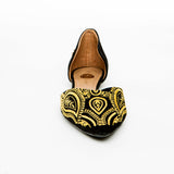 Gold Henna Flat Shoes - Bia Ullman