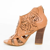 Laser Cut Bootie Shoes - Bia Ullman