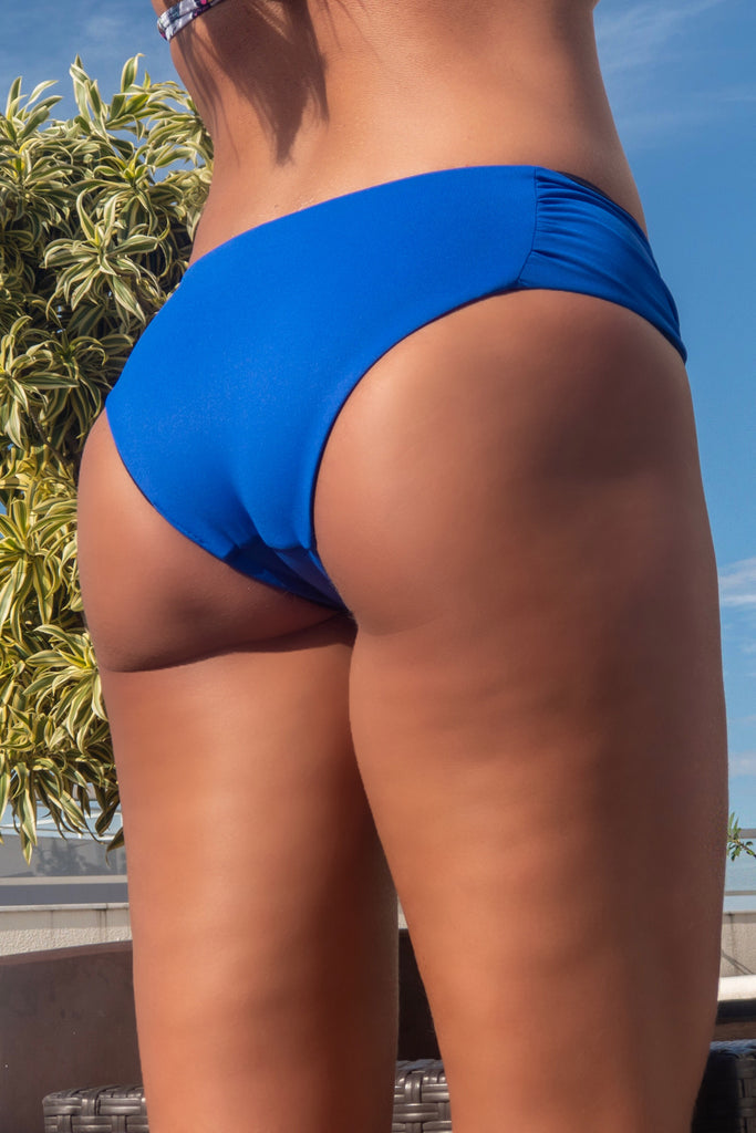 Reversible Bikini Bottom Royal (black and blue)