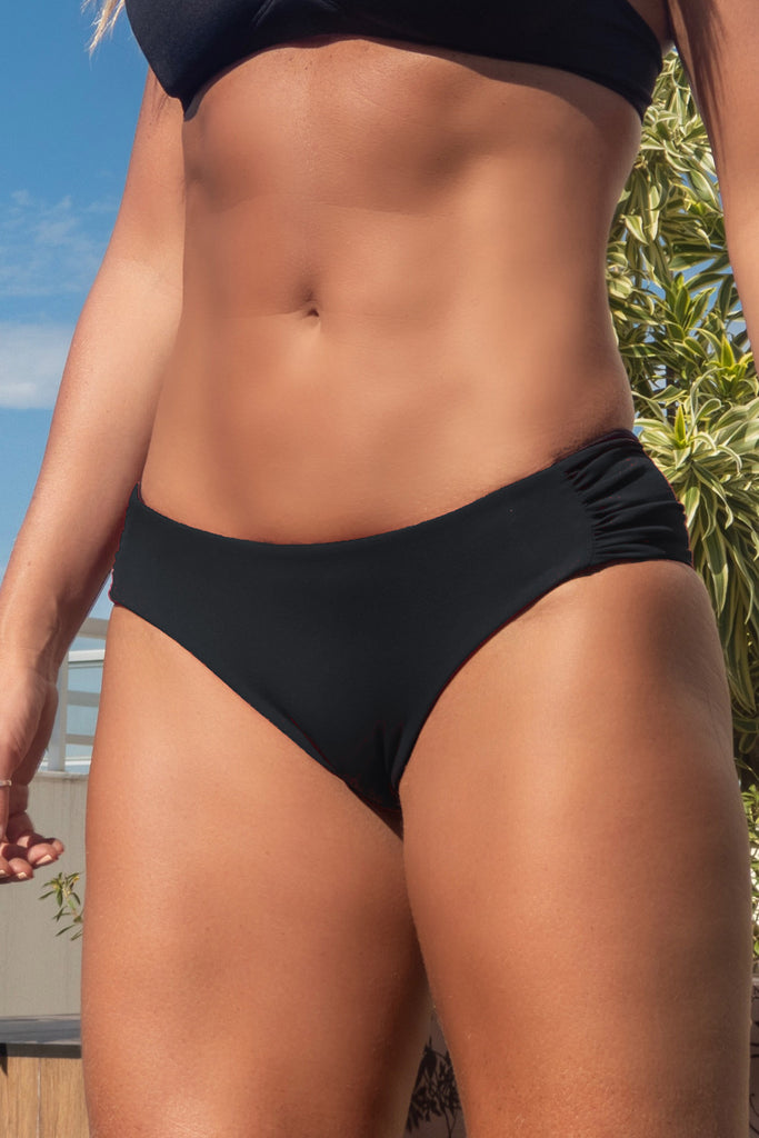 Labamba Reversible Bikini BOTTOM (black and labamba)