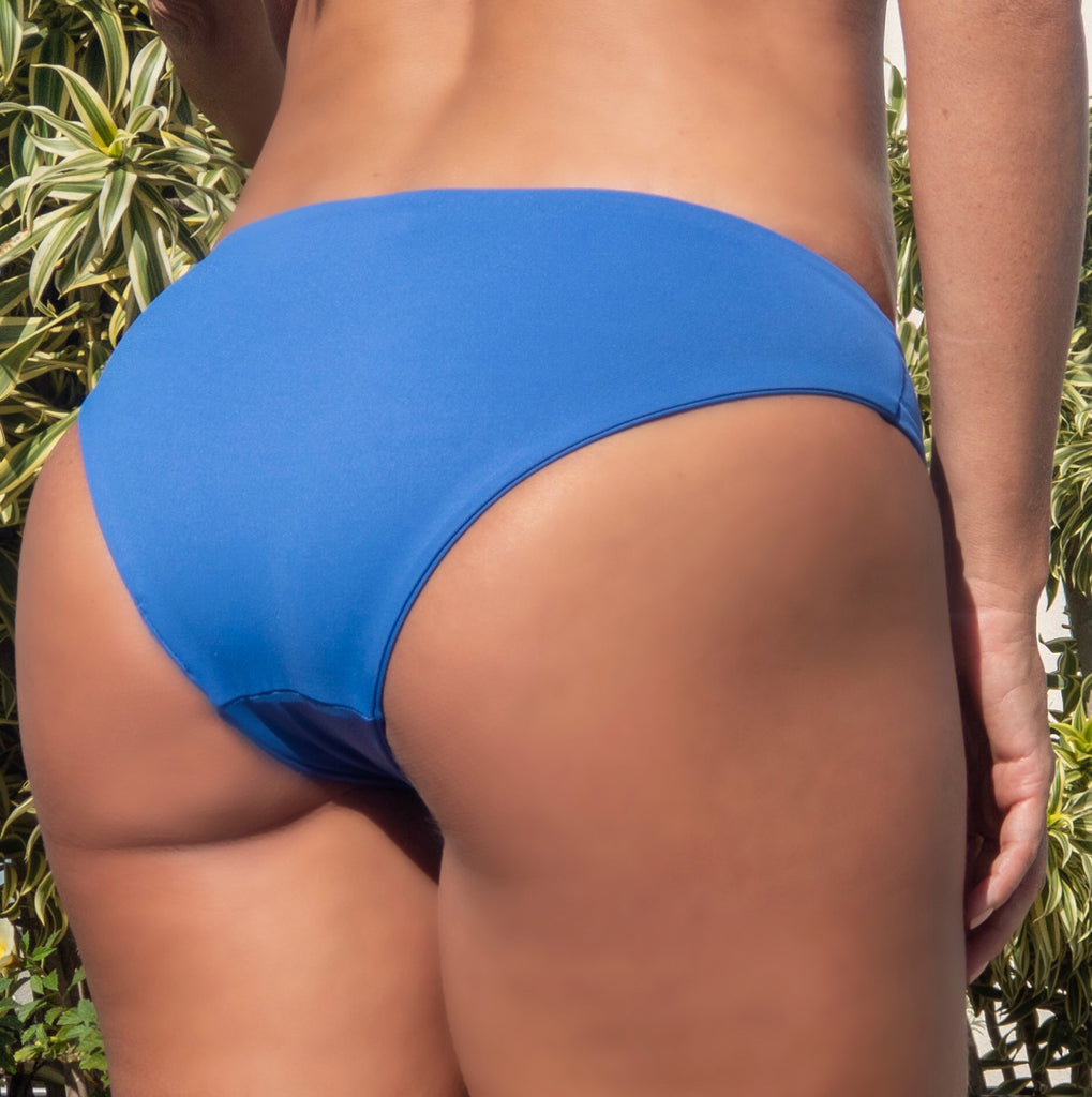 Back of Aruba Reversible Bikini Bottom, in Sky blue color