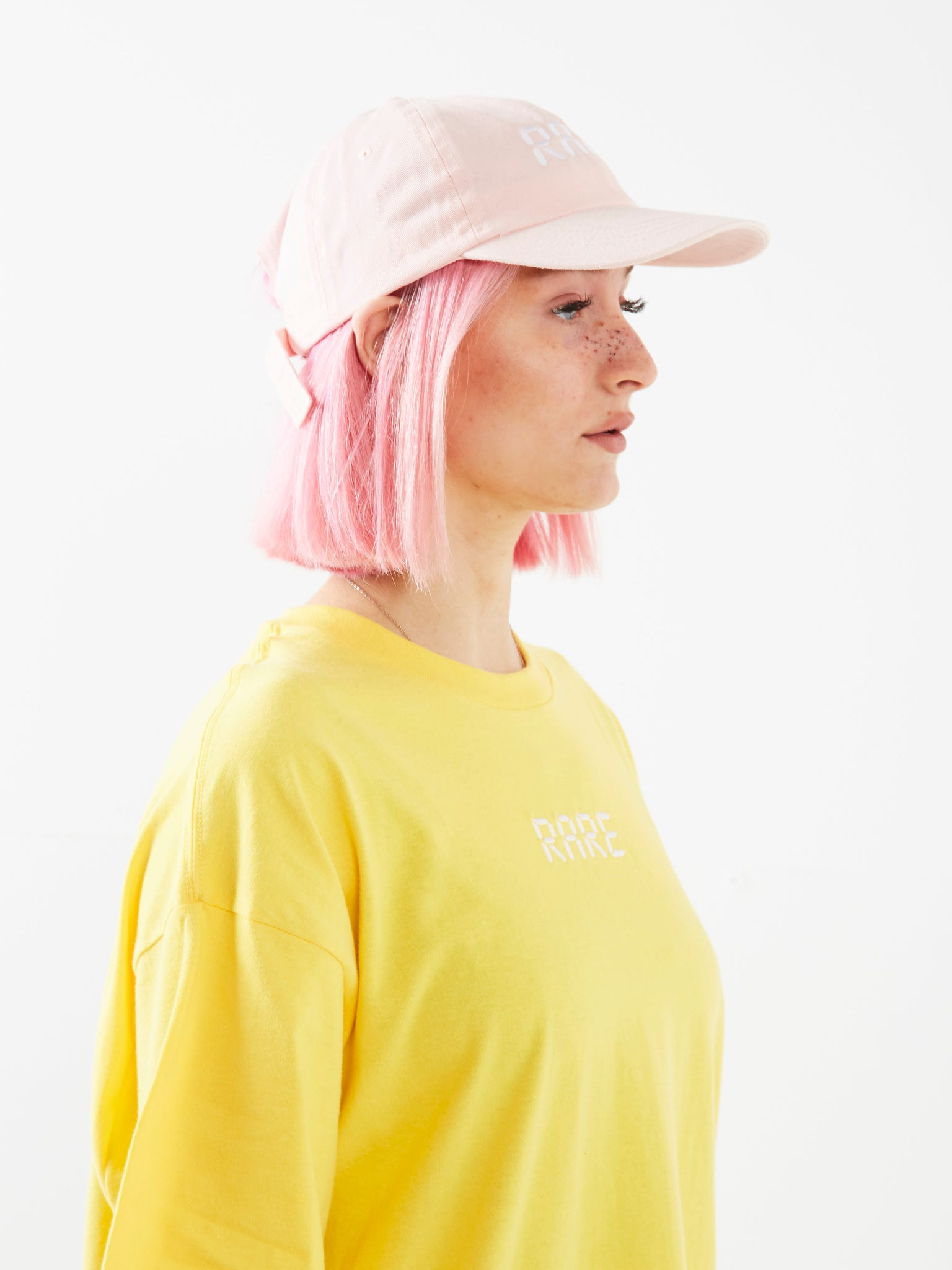 Bowl Cut Pink Dad Cap