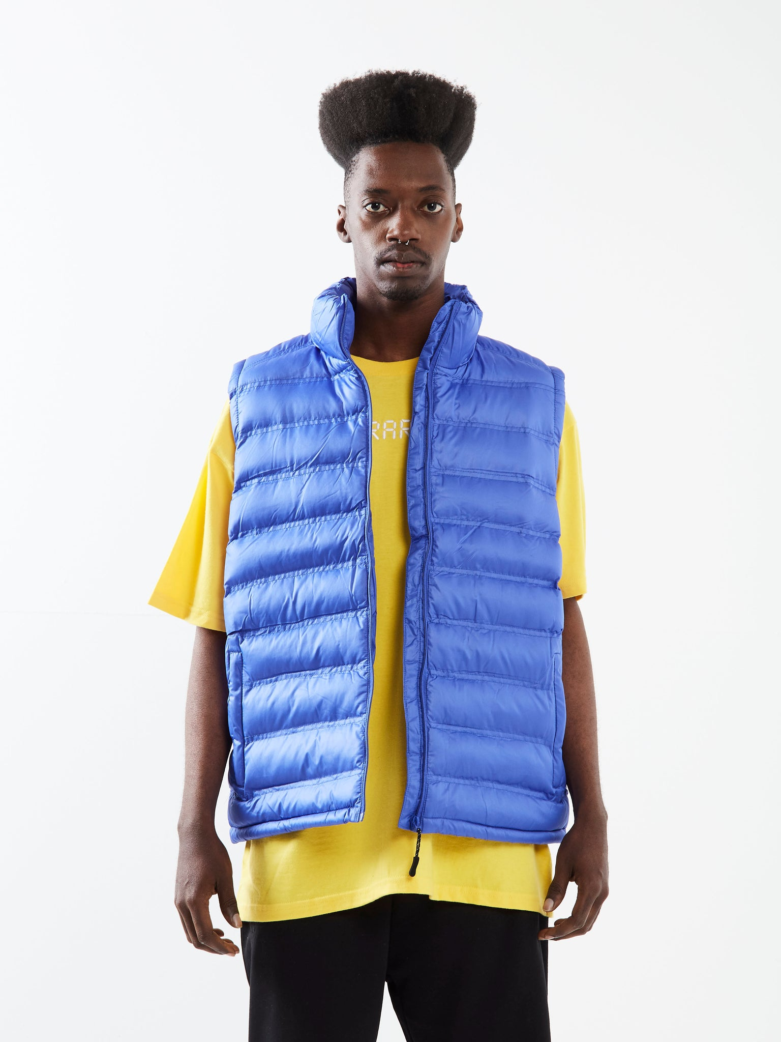 A Bit Thick Blue Padded Gilet