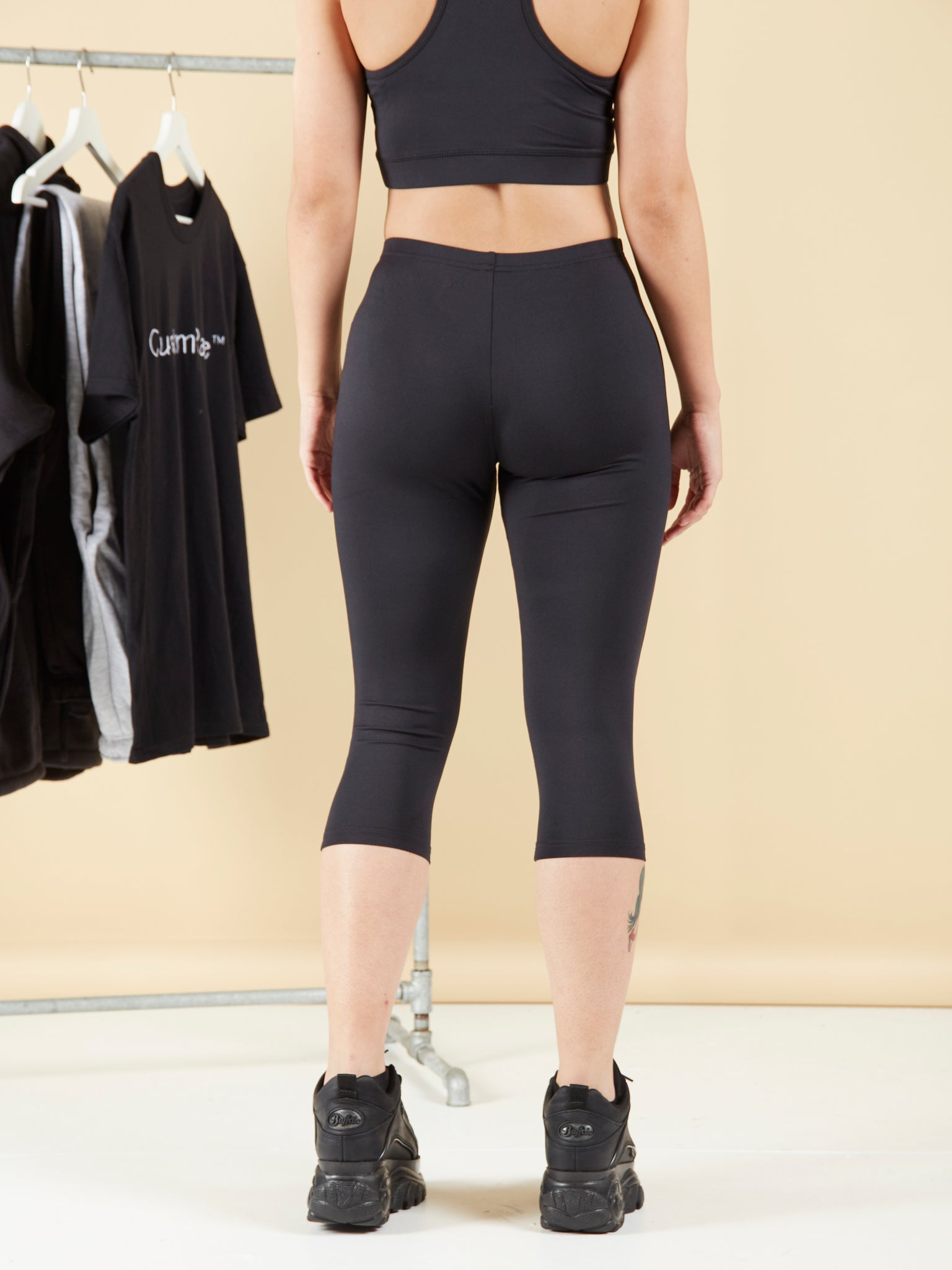 Comfort Over Pain Black Leggings