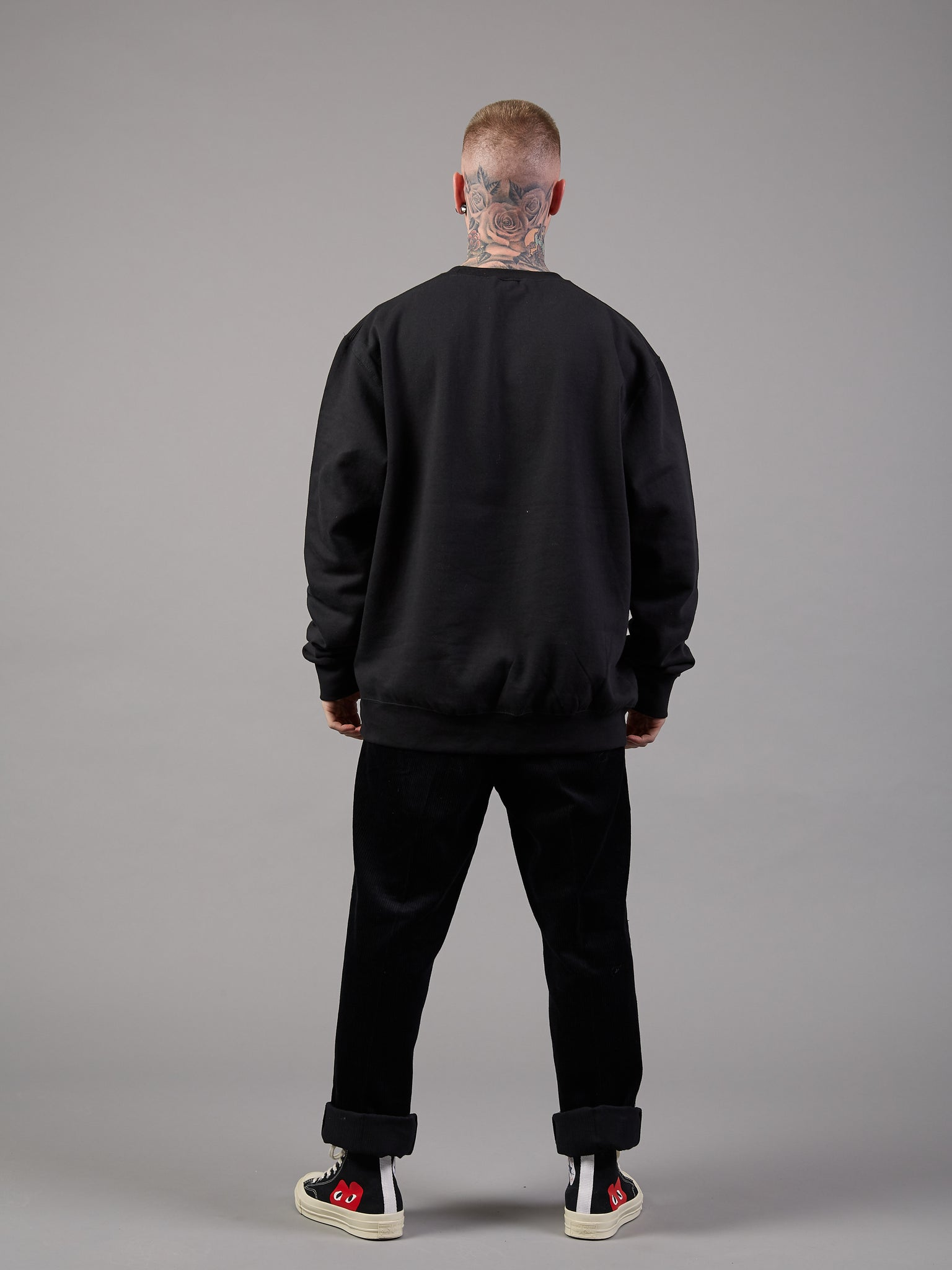 Above the Law Oversized Black Jumper