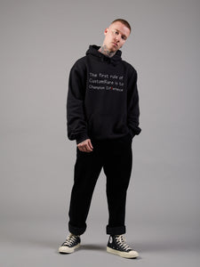 Bend the Rules Oversized Black Hoodie