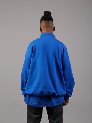 Double or Nothing Blue Zip 1/4 Jumper