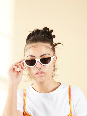 Vintage Half Frame Cat Eye Sunglasses.