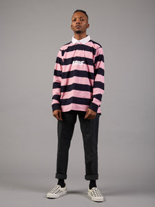 Stripe It Lucky Oversized Rugby Shirt