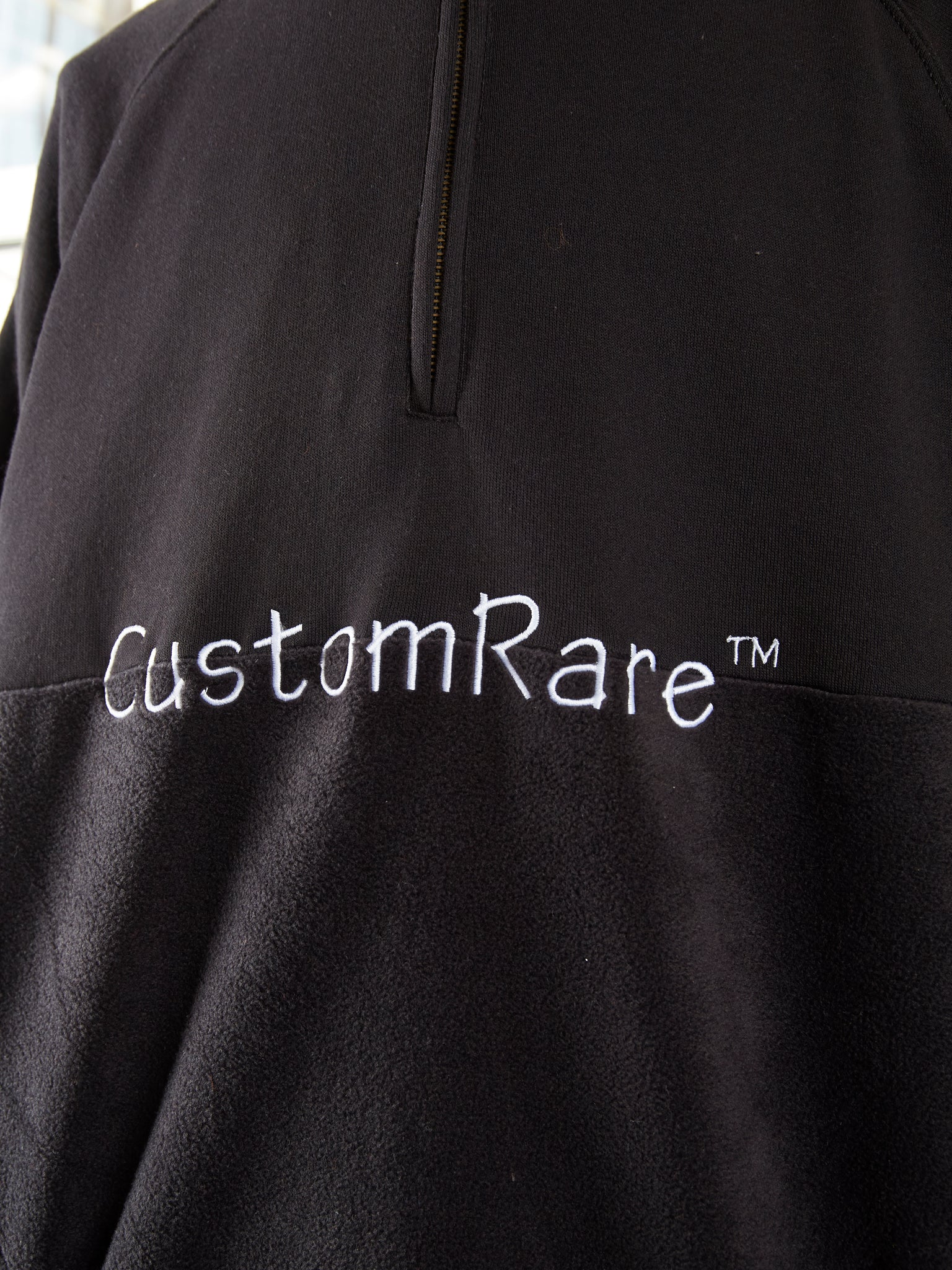 Black RARE Half Fleece Half Jump