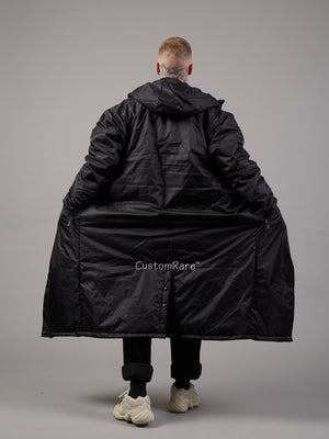 Dare To Be Different Black Padded Coat