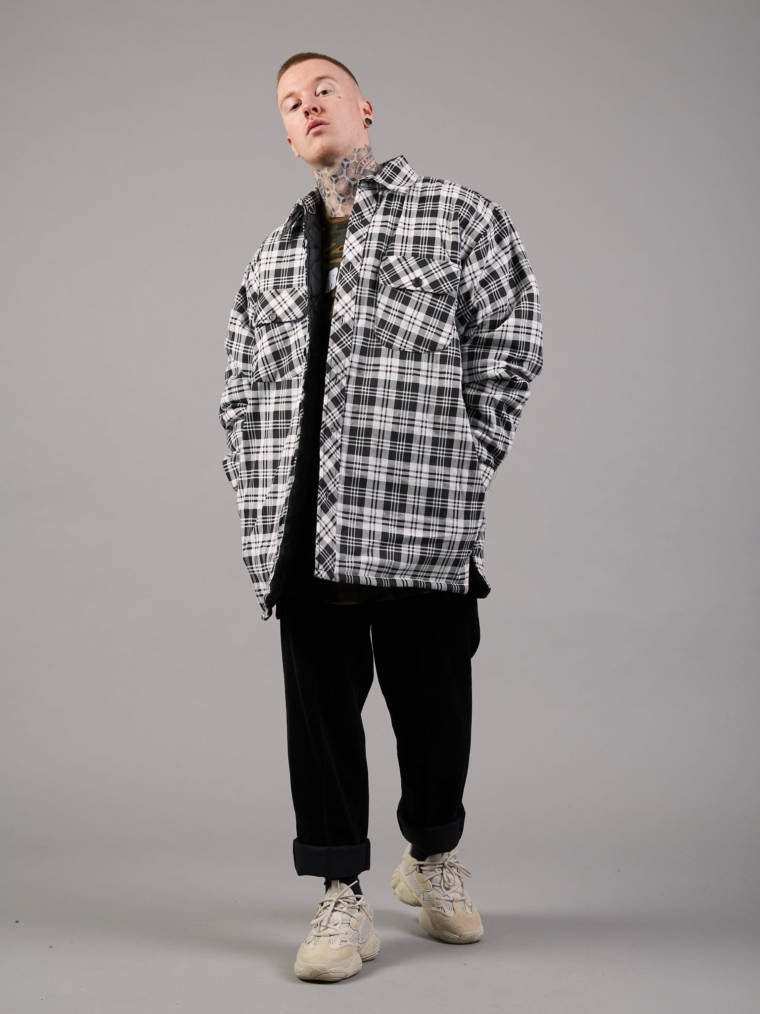 Ahead Of The Game Checkered Padded Jacket