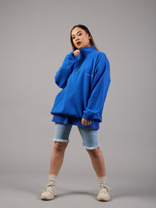 Bounce Back Blue Zip 1/4 Jumper
