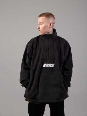Keep Your Cool Black Oversized Fleece