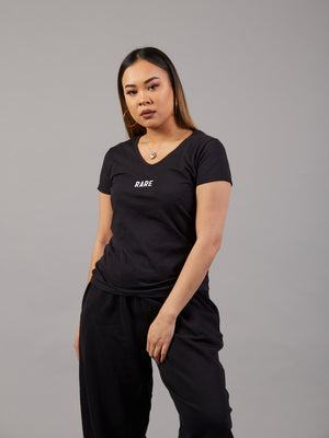 As Plain As Day Basic Black T-shirt