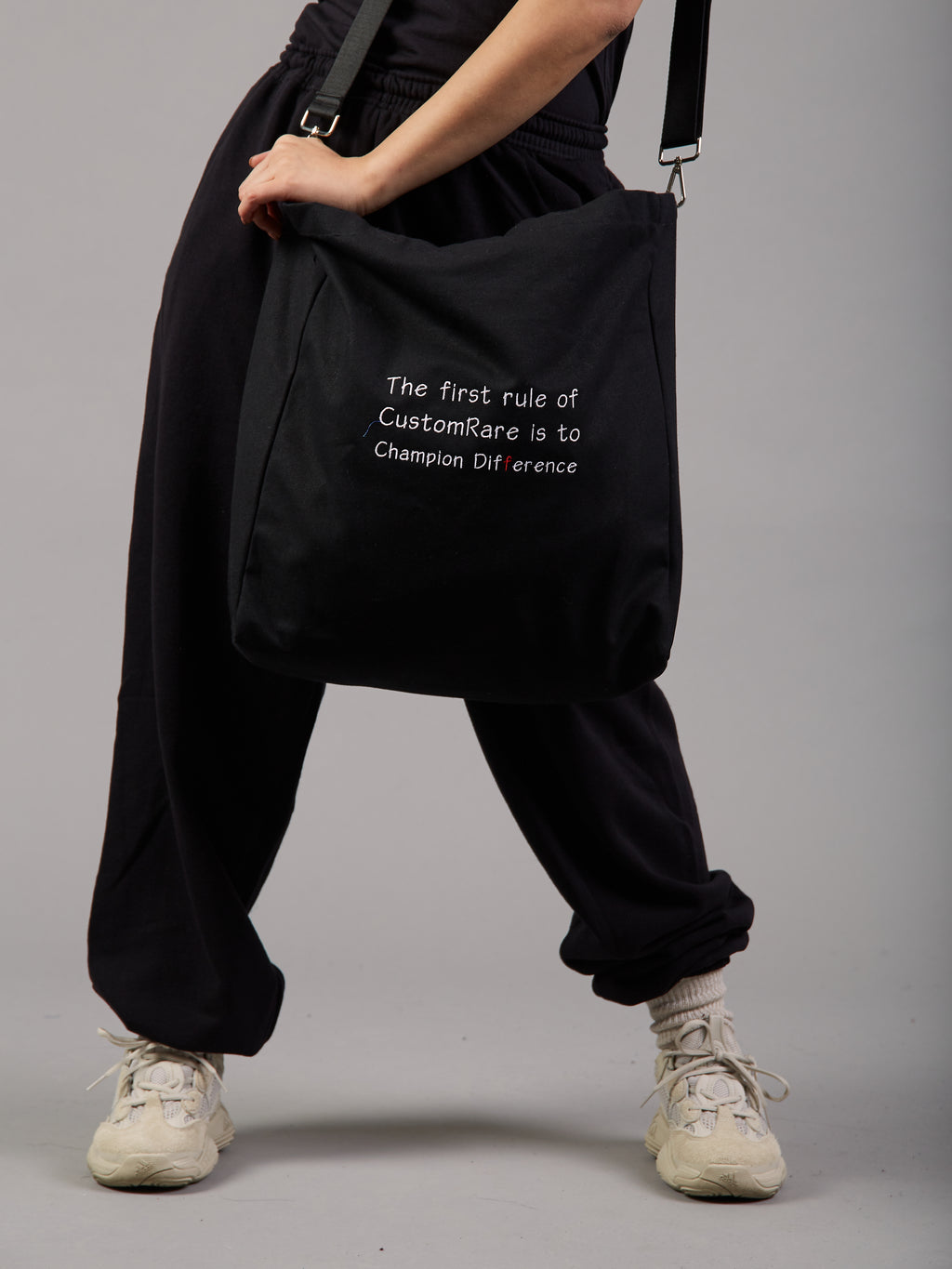 Make a Difference Black Logo Tote Bag