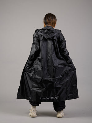 Lady In Black Maxi Waterproof Coat
