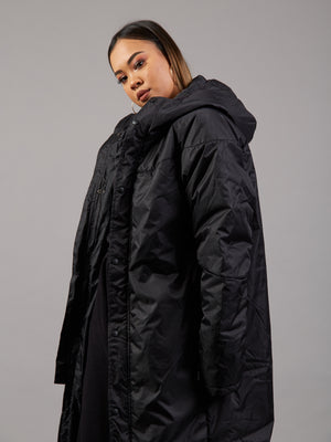 Thick Black Padded Coat