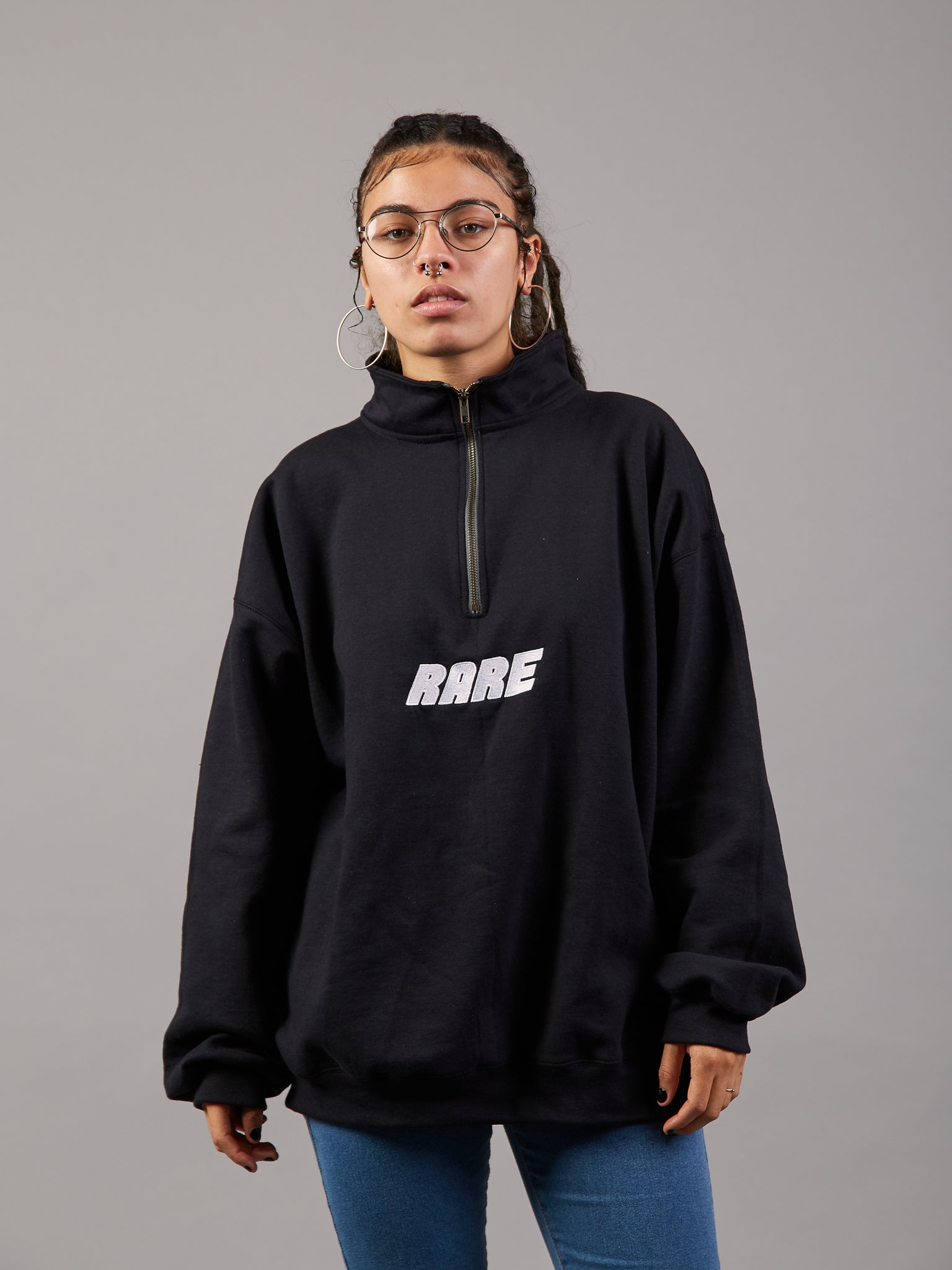 Sit and Chill Oversized Zip Jumper