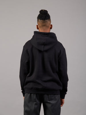 Bright & Early Black Oversized Hoodie