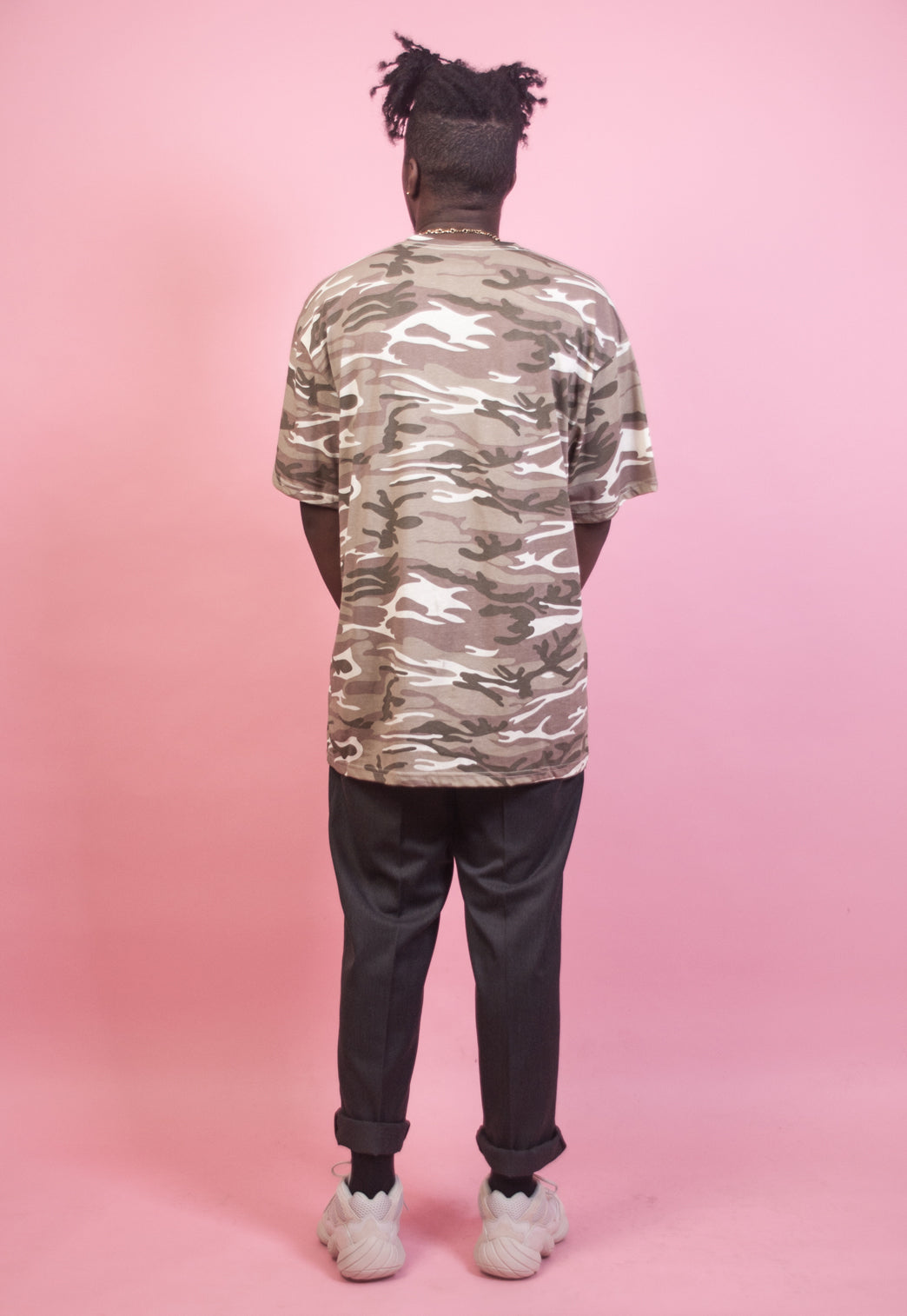 Cream Camo Oversized Tshirt