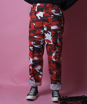 RED CAMO TROUSERS