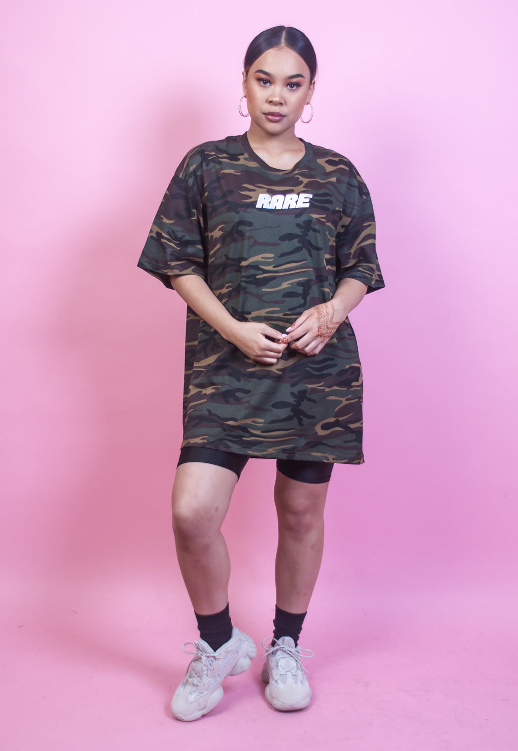 March On Camo Oversized Tshirt