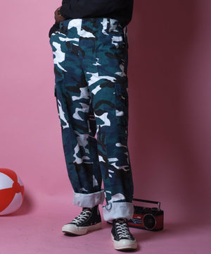 BLUE CAMO TROUSERS