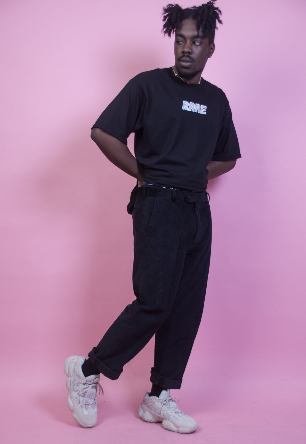 Back To Black Corduroy Trousers