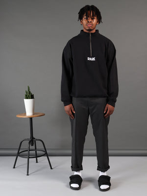 Dark Web Black Polo Neck Jumper
