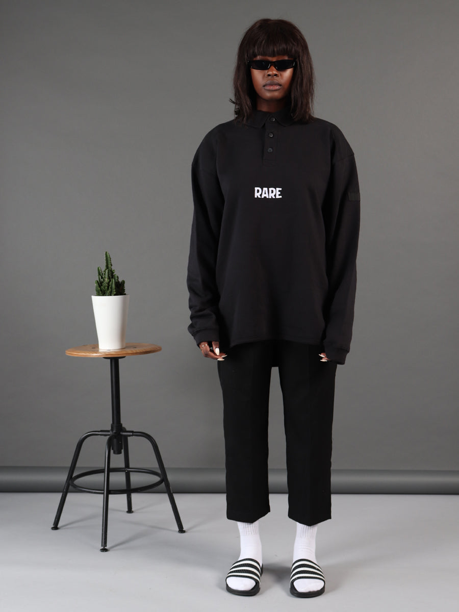 Dark Queen Polo Neck Black Jumper