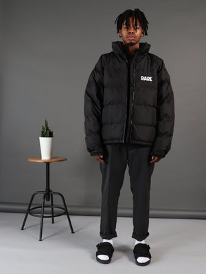 Dark Web Black Padded Jacket