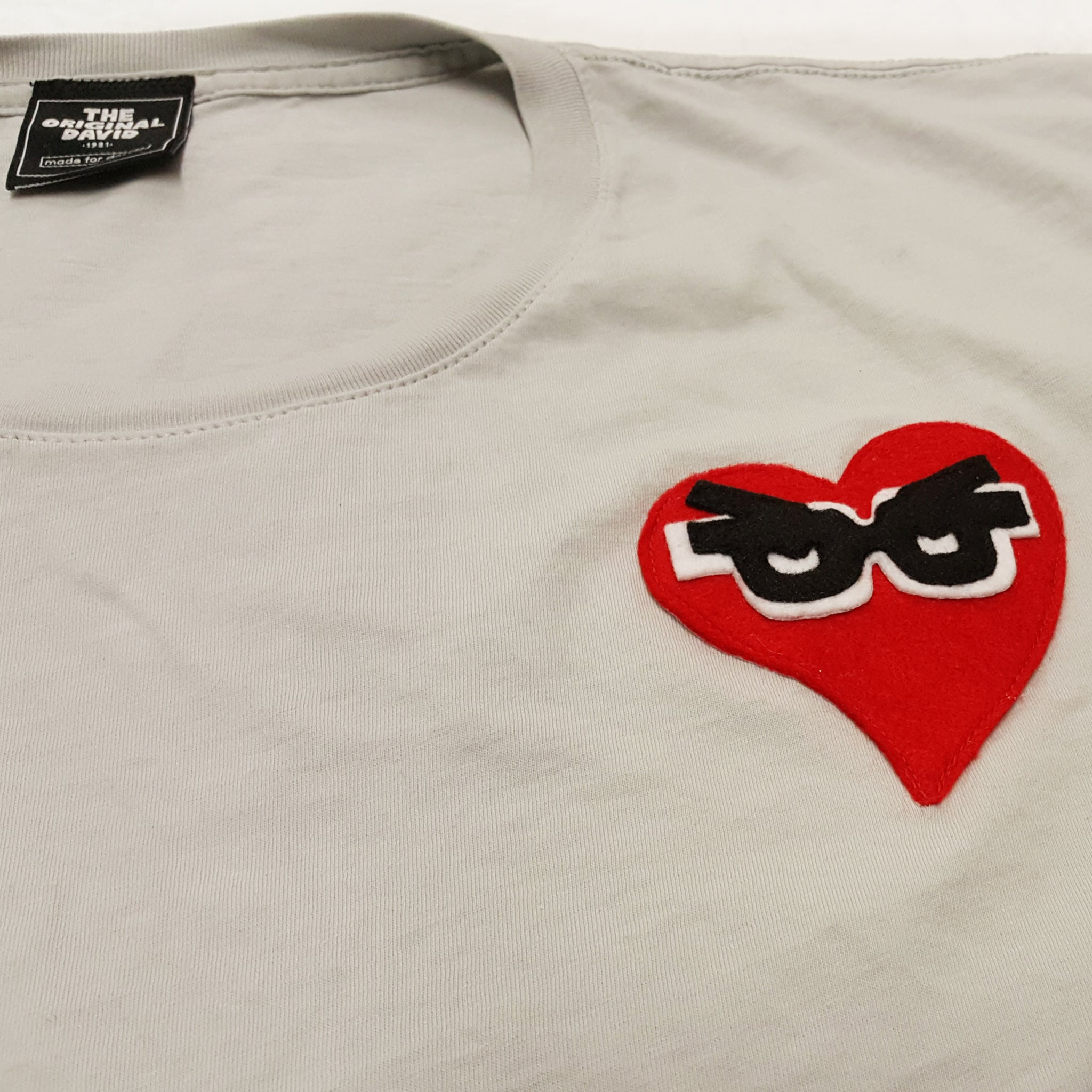 Beloved Heart T-shirt Silver Gray