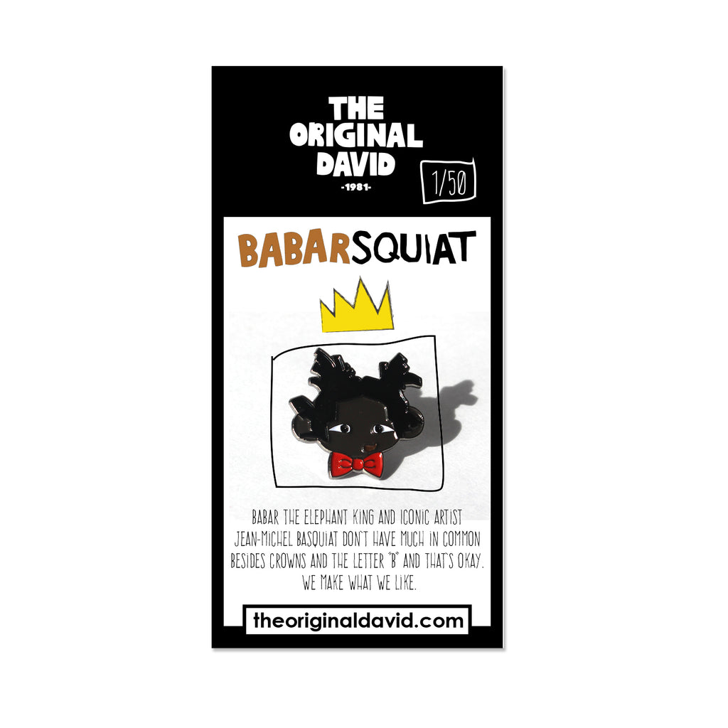 Babarsquiat Soft Enamel Pin