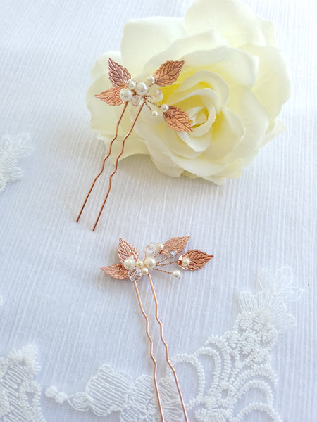 CALLISTA - Delicate Hair Pins (Rose Gold, Gold, Silver)