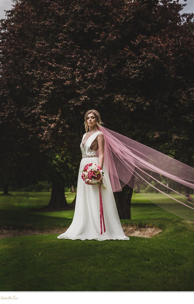 PINK CLASSIC TWO TIER VEIL - Basic, Classic Veil (3 Shades)