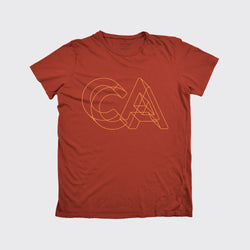 CALIFORNIA TEE - RUST