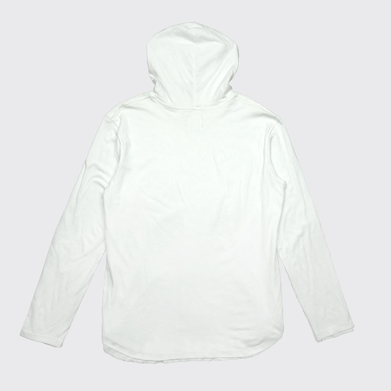 DOUBLE LAYER HOODIE - White