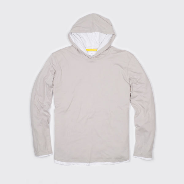 DOUBLE LAYER HOODIE - Fog